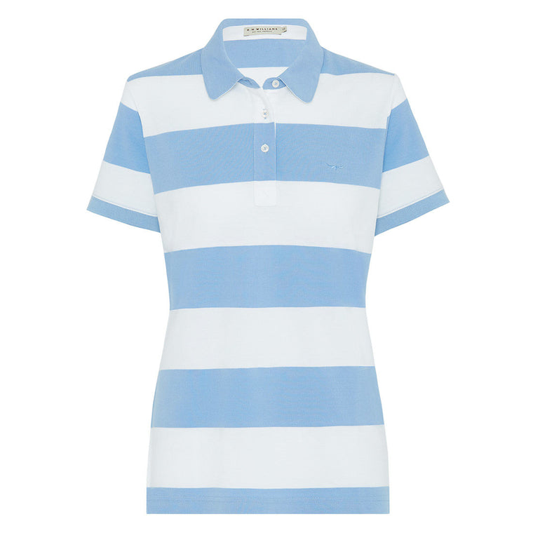 R.M.Williams Foal Polo Sky Blue/White Regular Fit