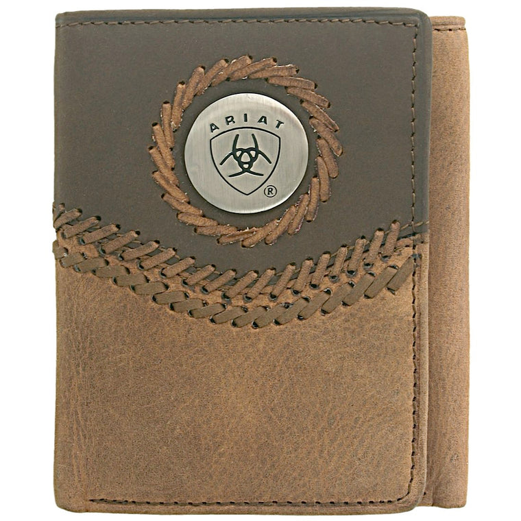 Tri fold Wallet-Chestnut / Brown WLT3101A