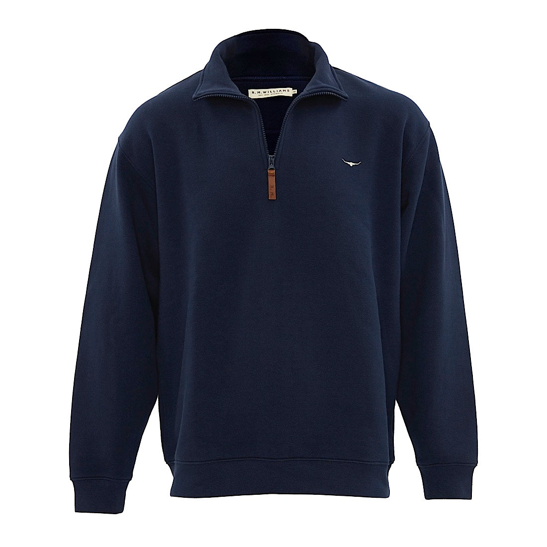 R.M.Williams Mulyungarie Fleece Jumper Navy Regular Fit