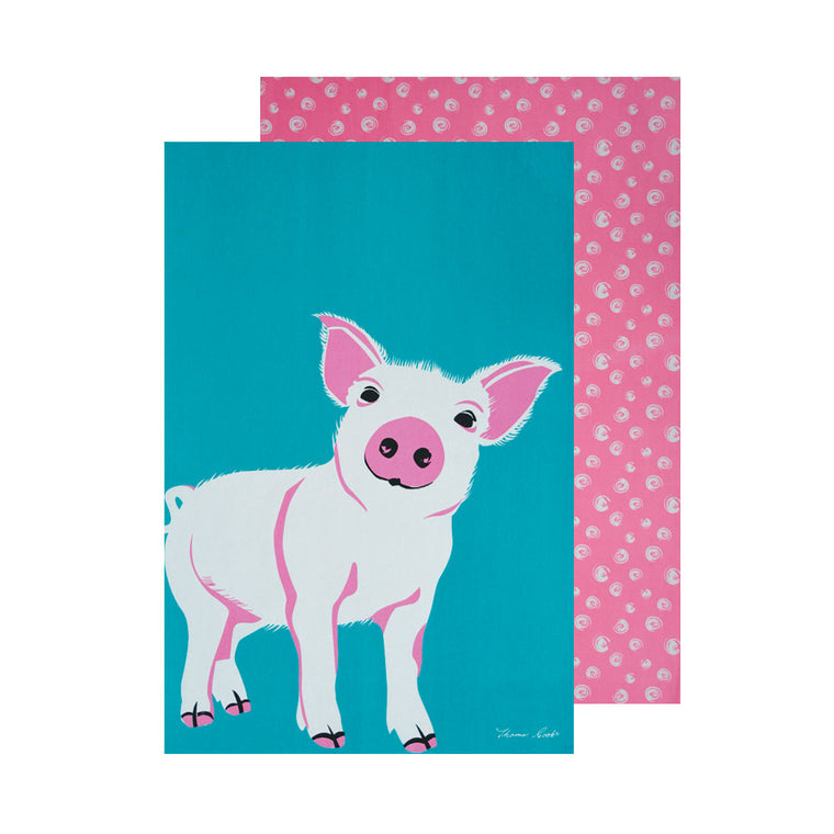 Thomas Cook Tea Towel Piglet 2 Pack