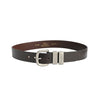 "R.M.Williams Chestnut 1 1/2"" Matt Nickel 3 Peice Solid Hide Belt"