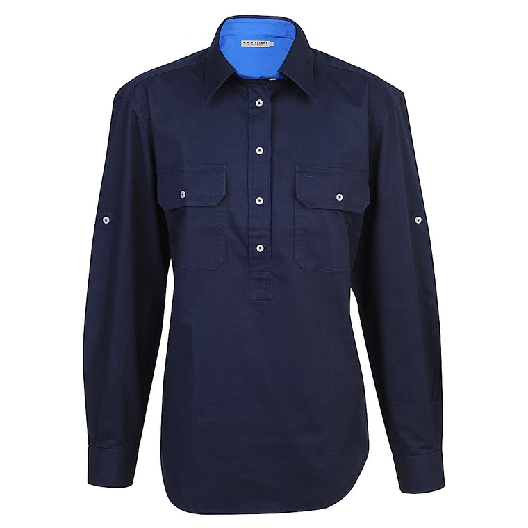 R.M.Williams  Broken Hill Shirt Navy