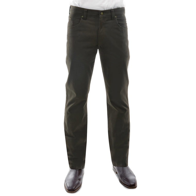 Mens Stretch Moleskin Regular Fit Dark Khaki