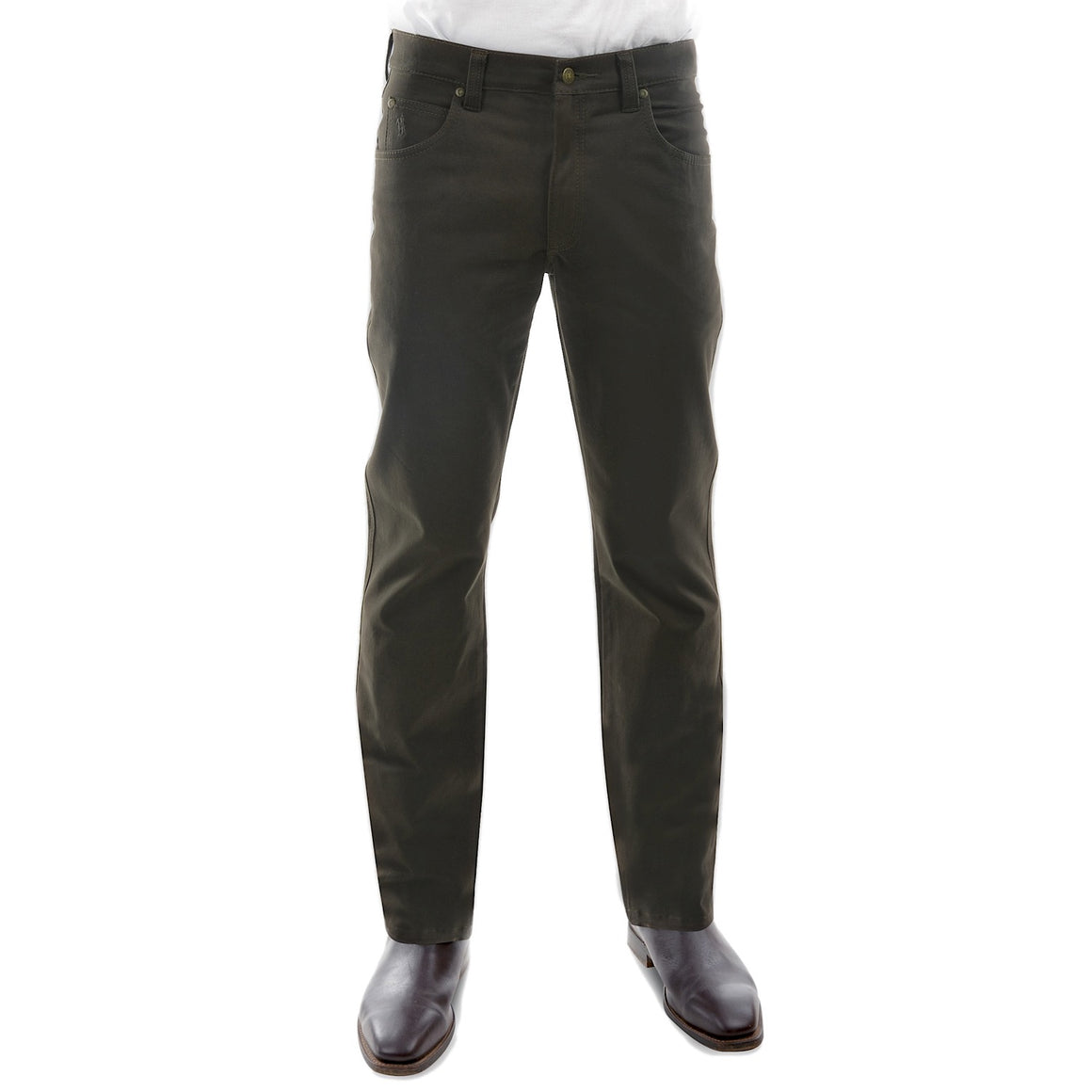 Thomas Cook Mens Stretch Moleskin Regular Fit Dark Khaki