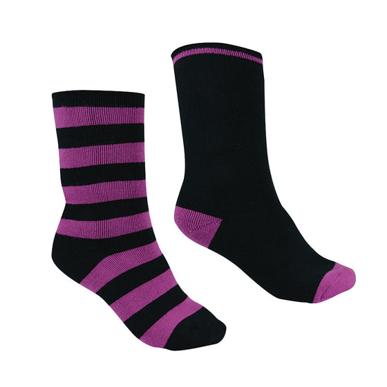 Thomas Cook Thermal Socks - Twin Pack Purple Orchid/Black
