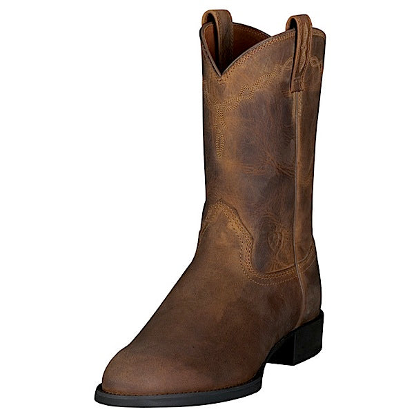 Ariat Kids Heritage Roper Boot Distressed Brown