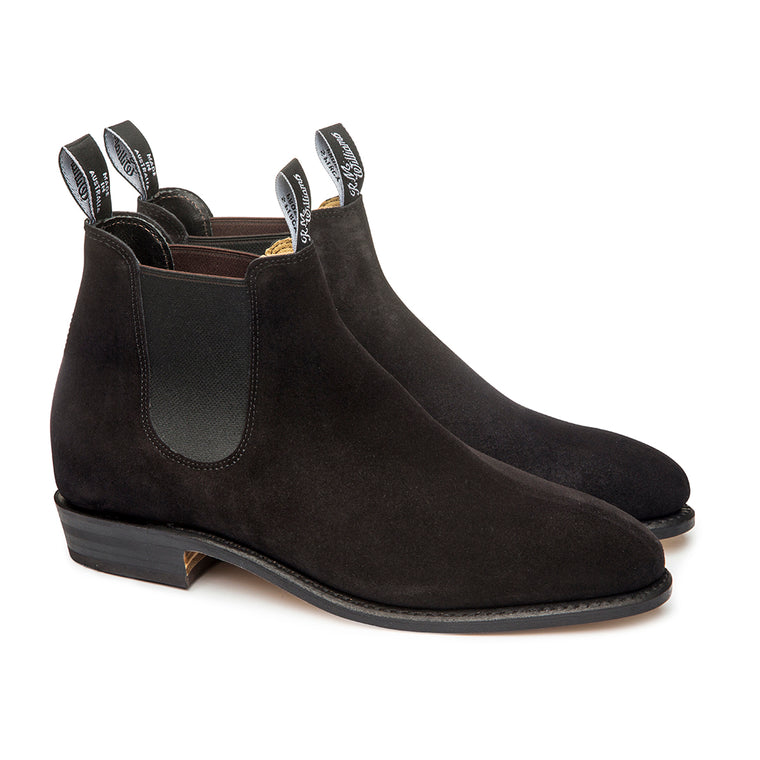 Womens Suede Adelaide Boots Black