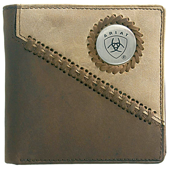 Bi Fold Wallet- Brown/ Fawn WLT2100A