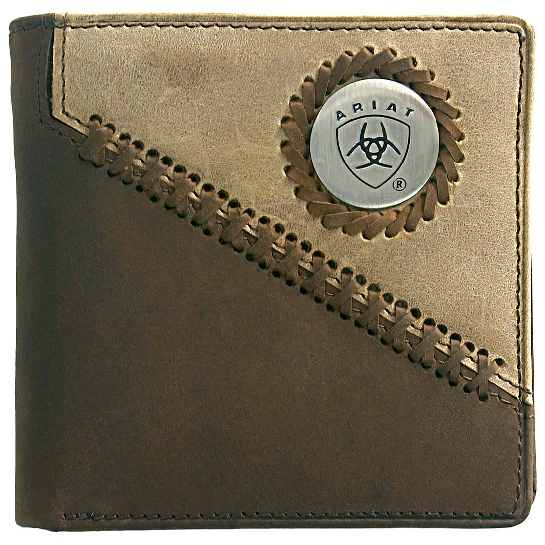 Bi Fold Wallet- Brown/ Fawn