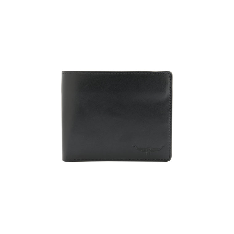 R.M.Williams Yearling Leather Black Trifold-Wallet CG433.02