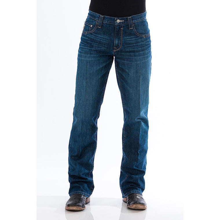 Cinch Mens Carter 2.0 Relaxed Fit Jeans Dark Stonewash
