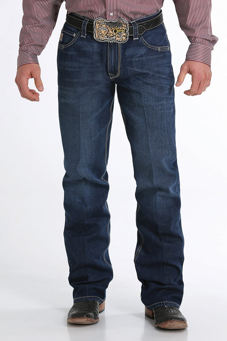 Cinch Mens Carter 2.0 Relaxed Fit Jeans Medium Stonewash