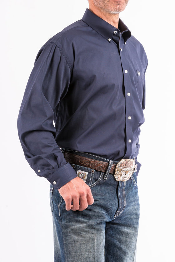 Cinch Solid Navy Western Button Down Shirt