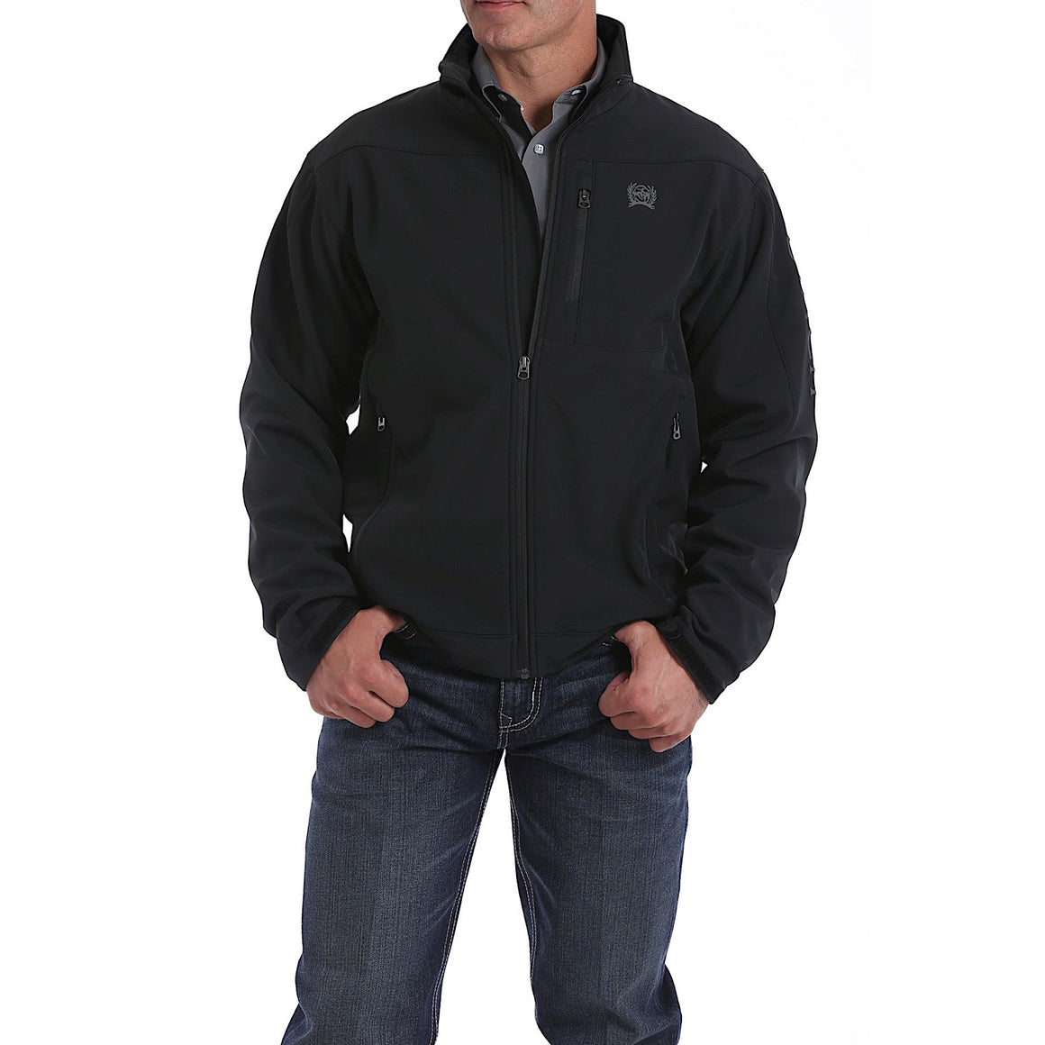 Cinch Mens Bonded Jacket Black/Silver