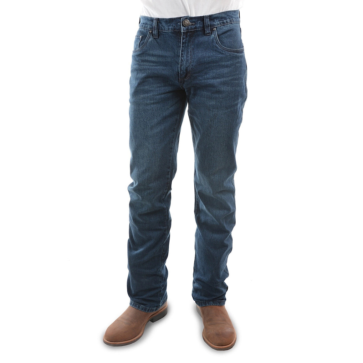 Pure Western Mens Heath Slim Boot Cut Jean After Dark