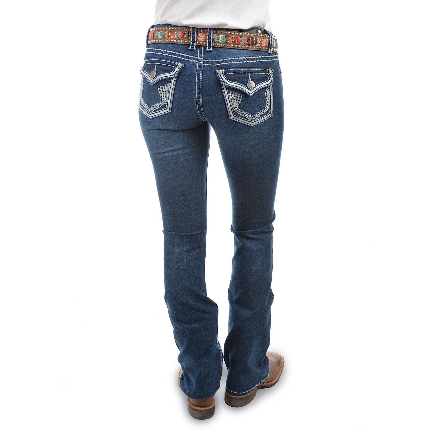 Buy Pure Western Womens Selina Boot Cut Jean 34 Leg Evening Sky The Stable Door
