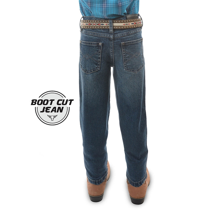 Pure Western Boys Archie Regular Fit Stretch Jean After Dark