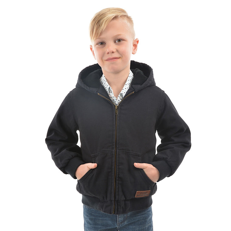 Pure Western Boys Canvas Jacket Dark Navy
