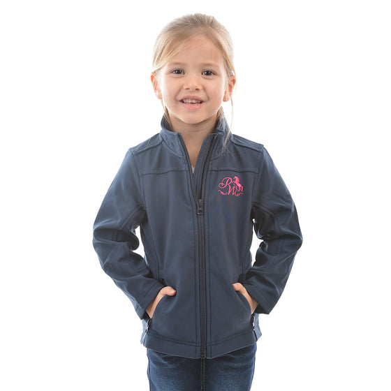 Pure Western Girls Soft Shell Jacket Ink