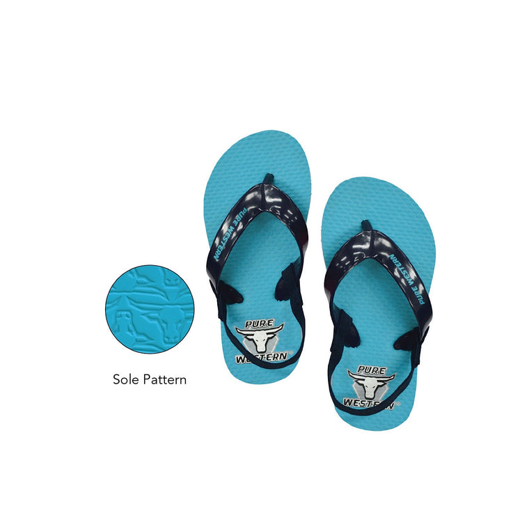 Pure Western Boys TODDLER Cody Thongs Blue