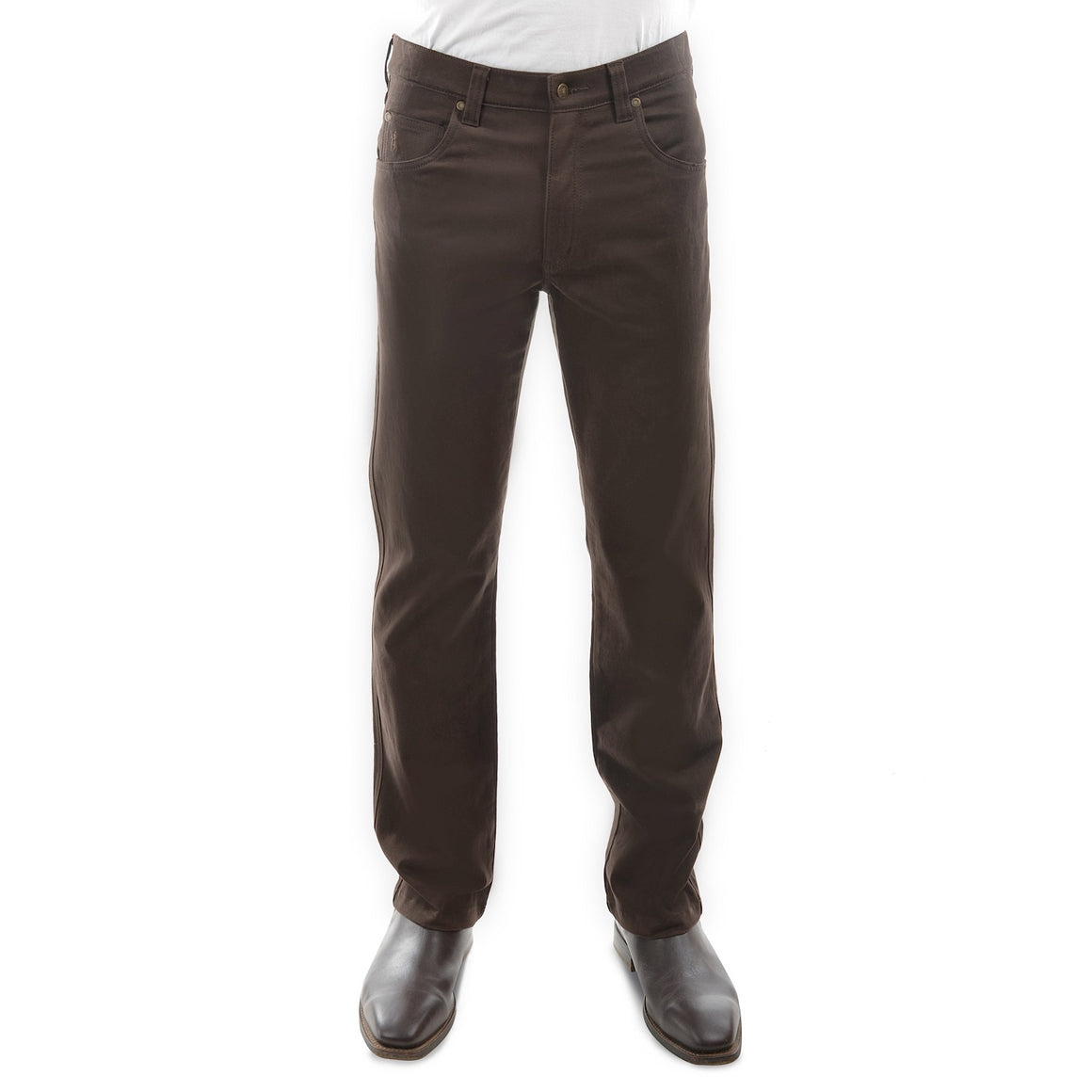 Thomas Cook Mens Stretch Moleskin Regular Fit Rich Brown