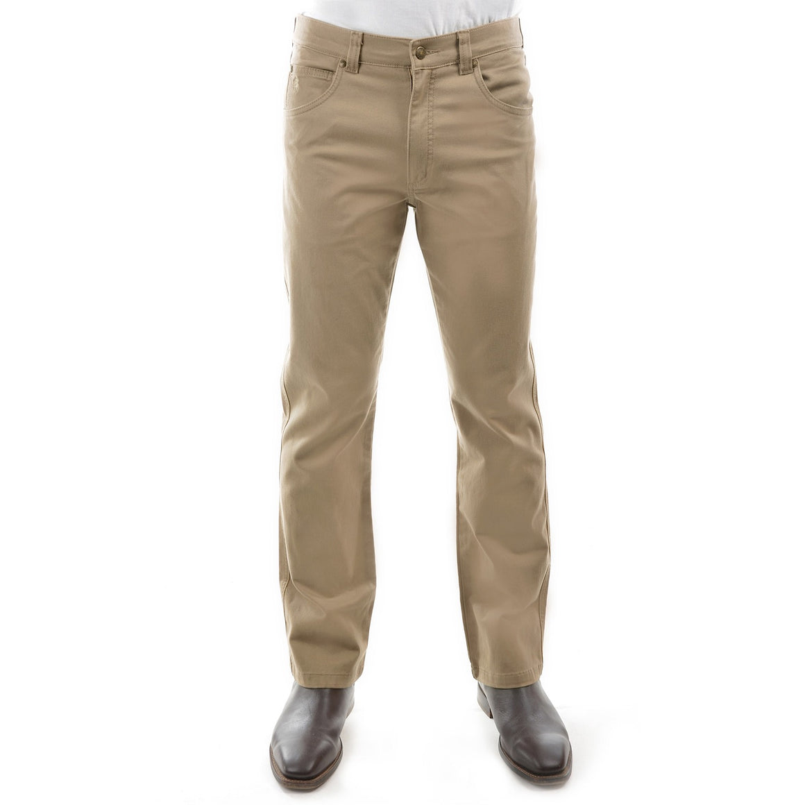 Mens Stretch Moleskin Regular Fit Sand
