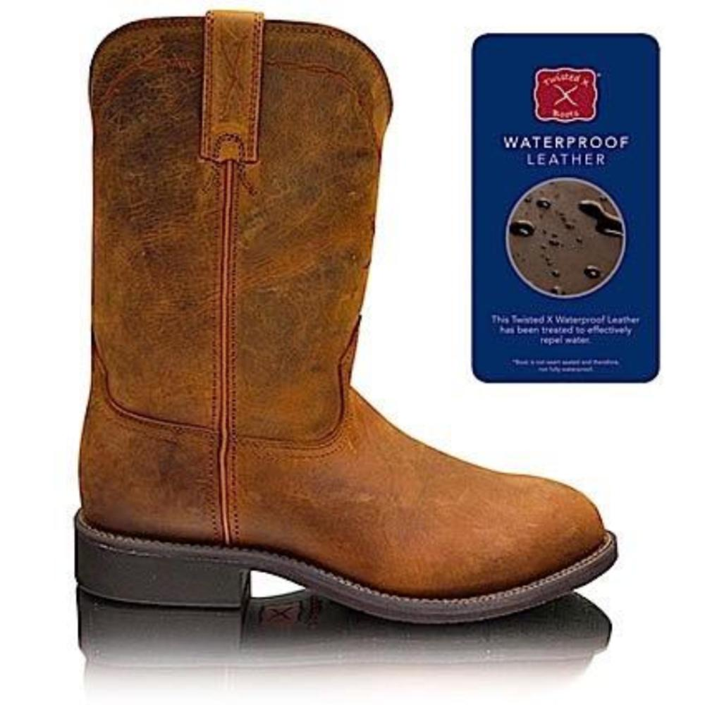 Twisted X Mens Roper (Waterproof Leather) Dark Brown