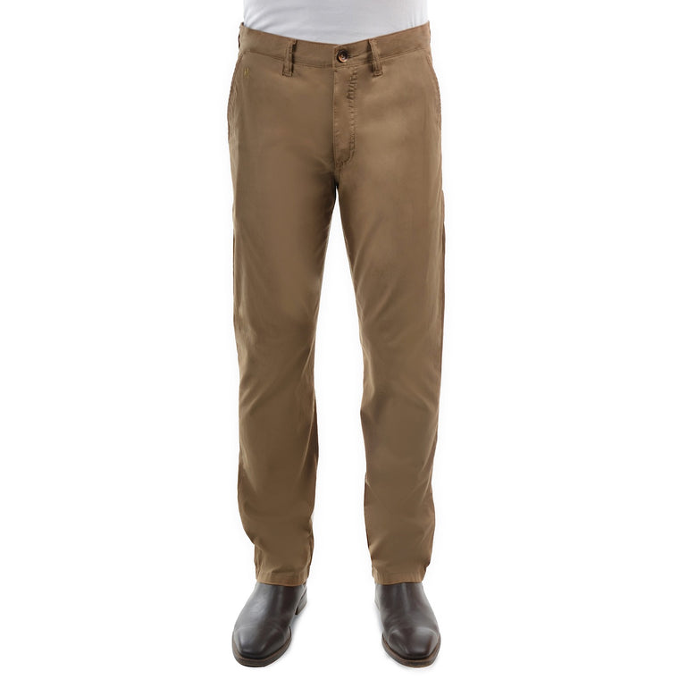 "Mens Thomas Cook Tailored Fit Mossman Comfort Waist Trousers Camel 32"" Leg"