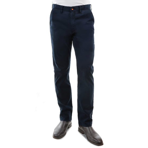 "Thomas Cook Mens Tailored Fit Mossman Comfort Waist Trousers Dark Navy 32"" Leg"