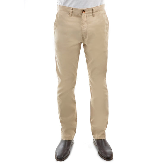 "Thomas Cook Tailored Fit Mossman Comfort Waist Trousers Bone 32"" Leg"