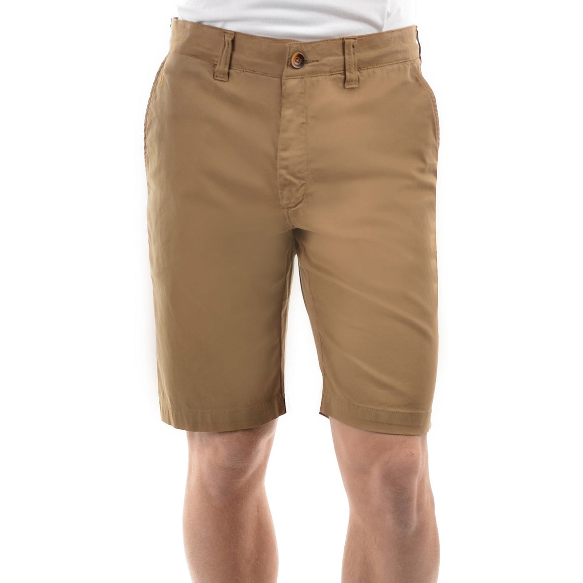 Mens Thomas Cook Tailored Fit Mossman Comfort Waist Shorts Camel