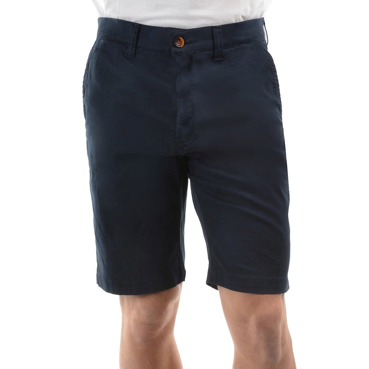 Mens Thomas Cook Tailored Fit Mossman Comfort Waist Shorts Dark Navy