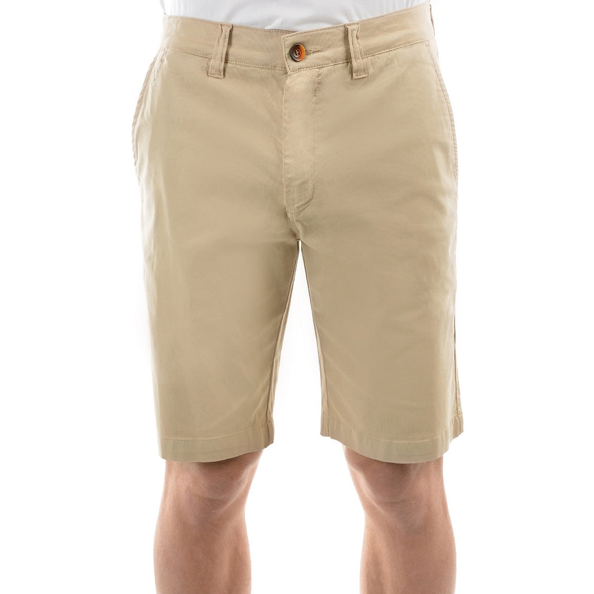 Mens Thomas Cook Tailored Fit Mossman Comfort Waist Shorts Bone