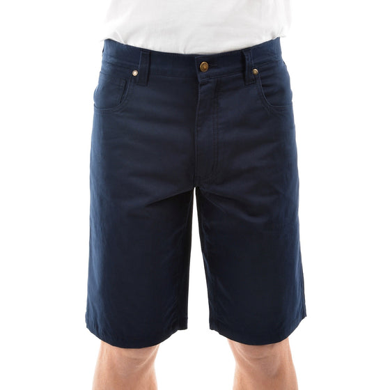 Mens Thomas Cook Jake Comfort Waist Shorts Dark Navy