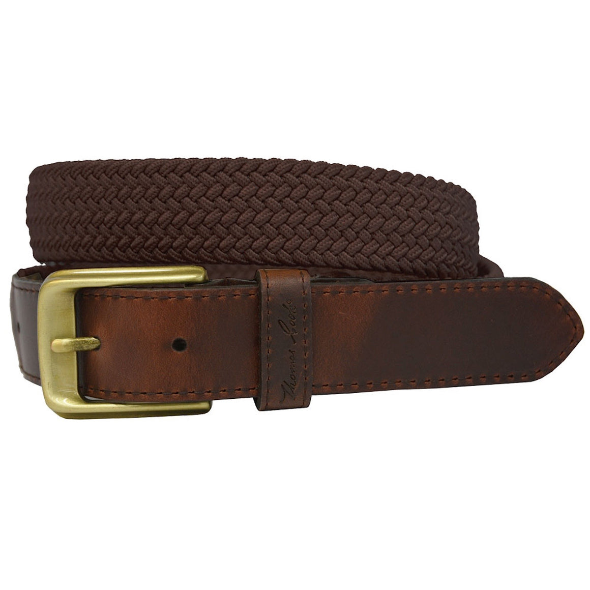Thomas Cook Comfort Waist Belt Dark Brown/Dark Brown
