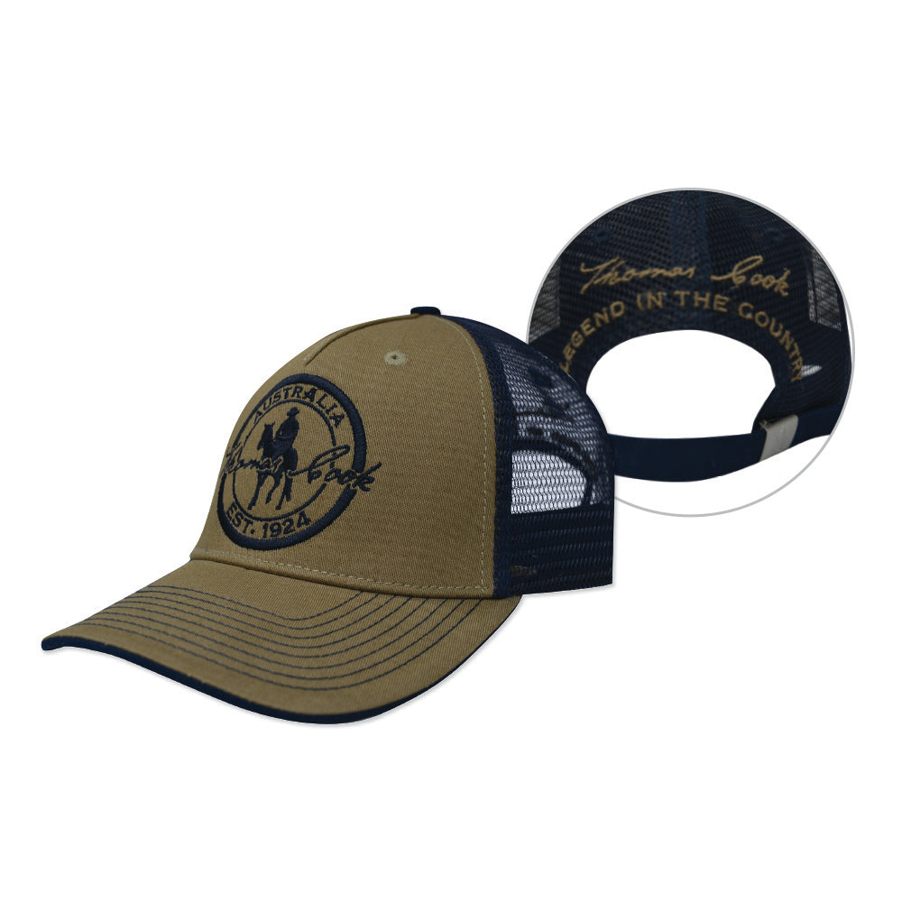 Thomas Cook Trucker Cap Tan/Navy