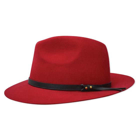 Thomas Cook Jagger Wool Felt Hat Red