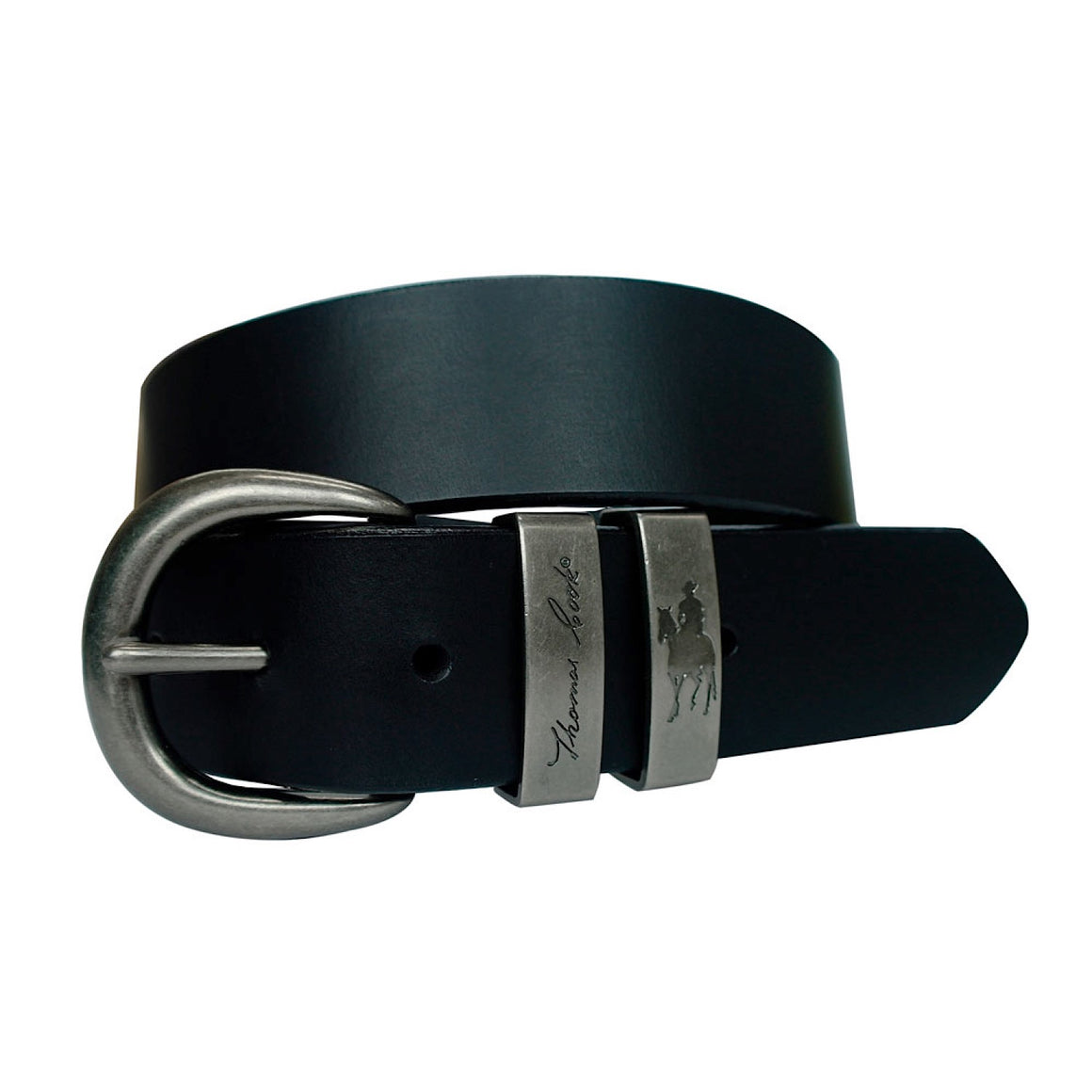 Thomas Cook Silver Twin Keeper Belt Black