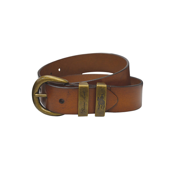 Thomas Cook Brass Twin Keeper Belt Camel