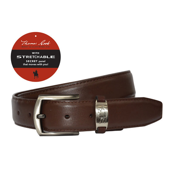 Thomas Cook Leather Comfort Waist Belt Brown