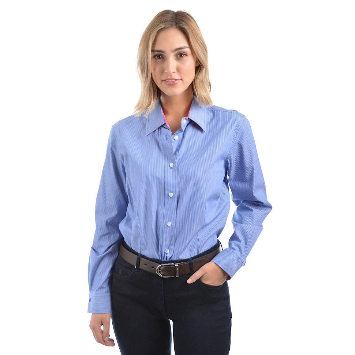 Thomas Cook Womens Grafton Stripe Shirt Coast Blue