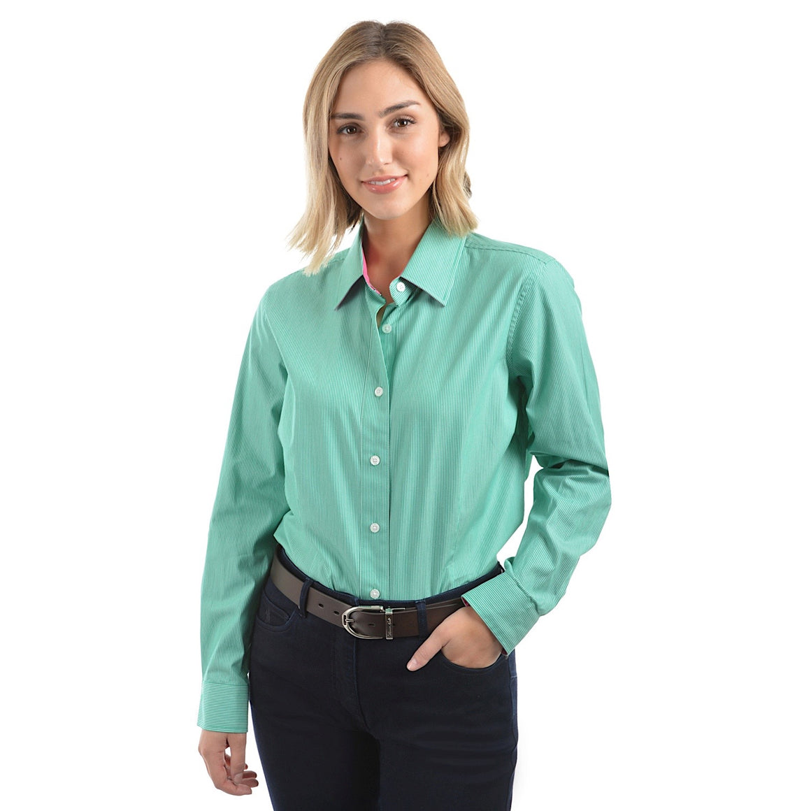 Thomas Cook Womens Grafton Stripe Shirt Sea Green