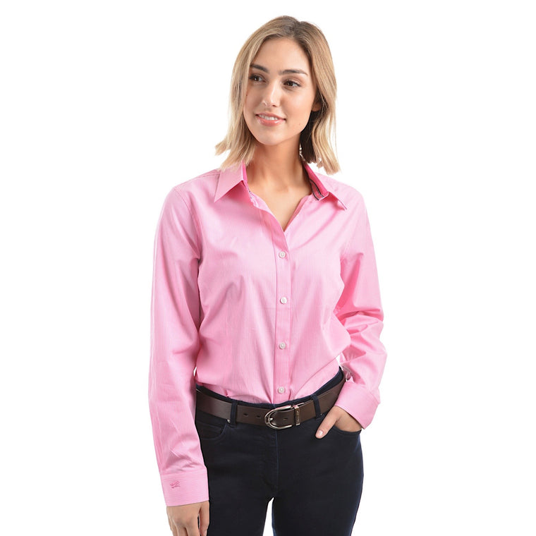 Thomas Cook Womens Grafton Stripe Shirt Pink