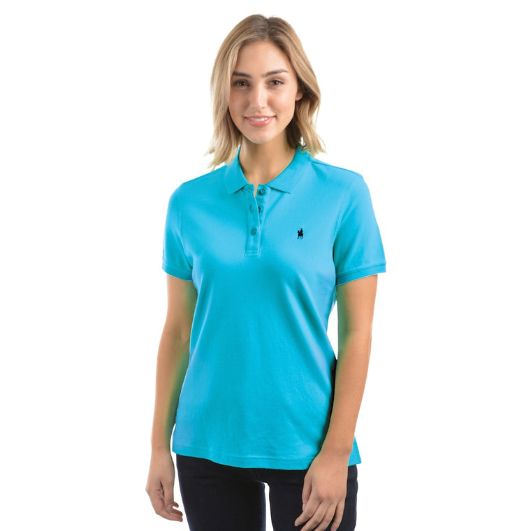 Thomas Cook Womens Classic Stretch Polo Aqua