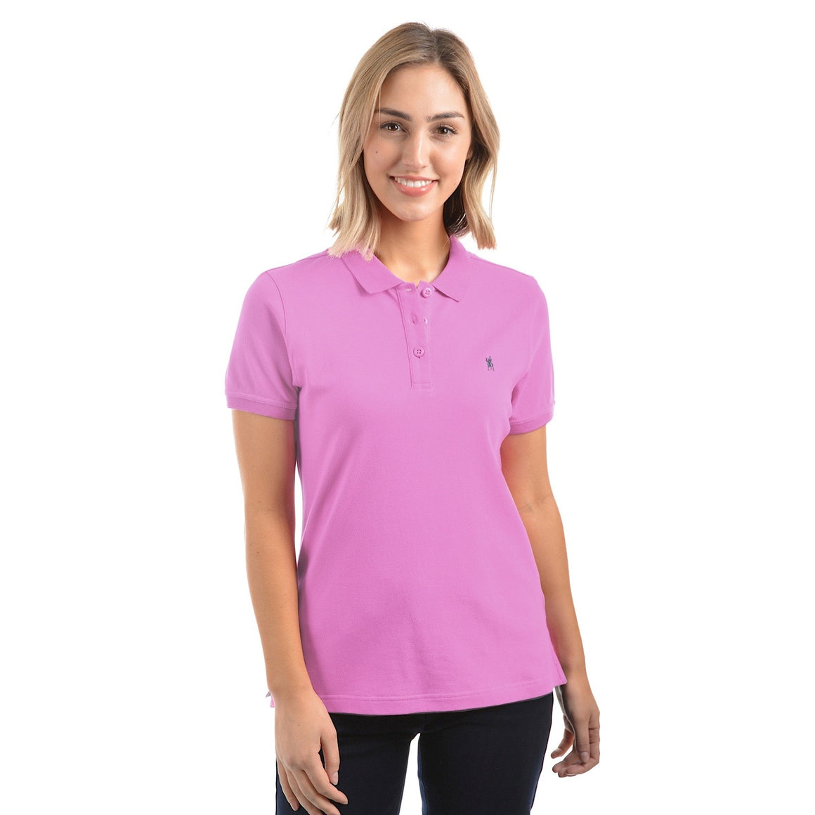 Thomas Cook Womens Classic Stretch Polo Violet