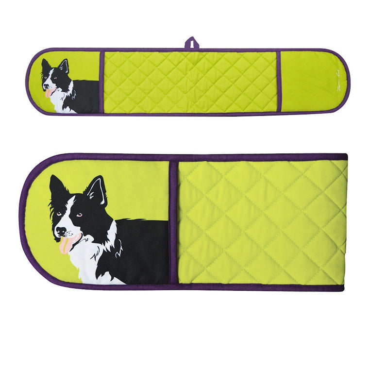 Thomas Cook Double Oven Glove Border Collie