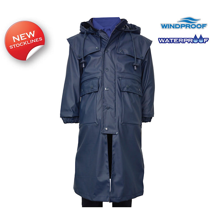 Thomas Cook Kids Pioneer Long Raincoat Navy