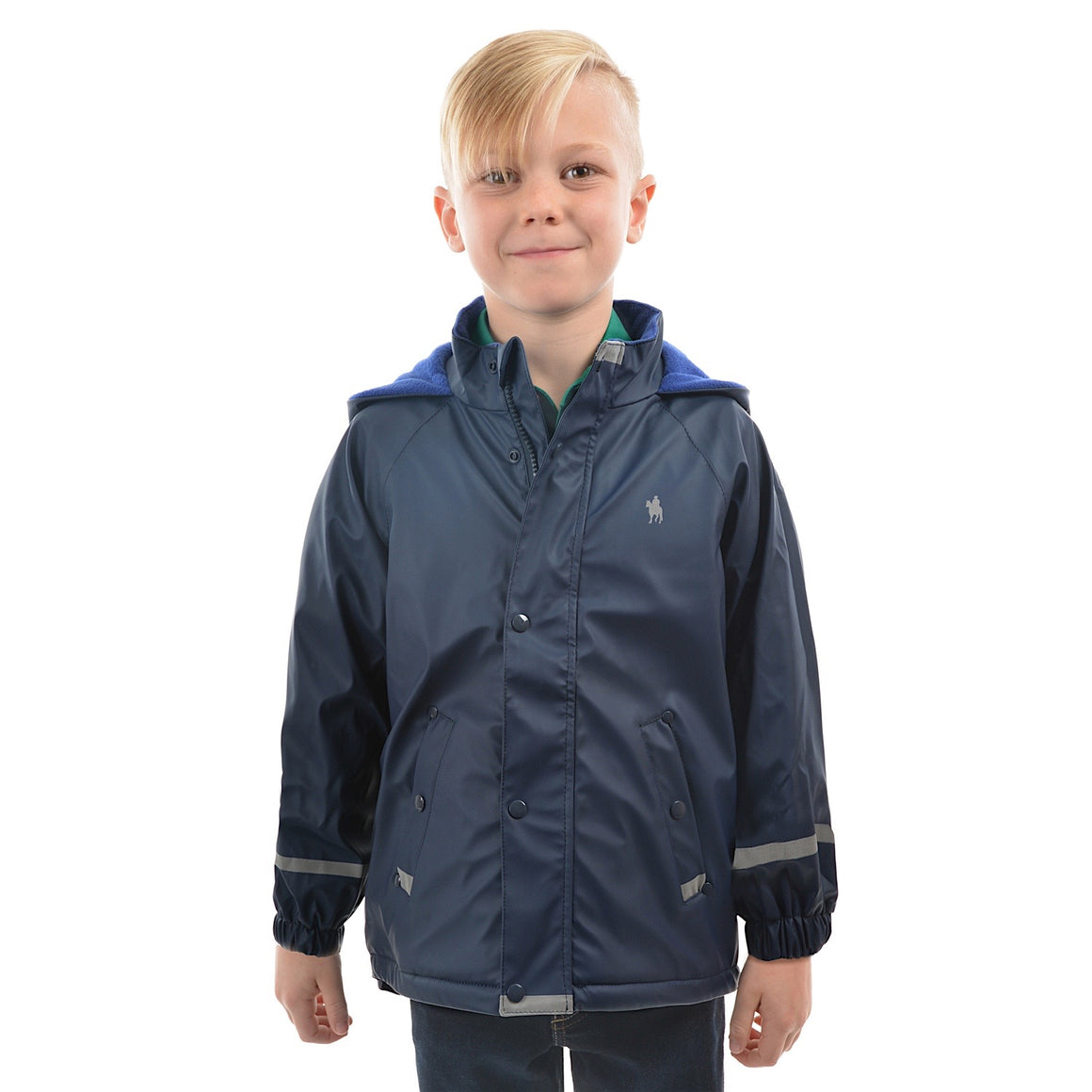 Thomas Cook Kids Reflective Raincoat Dark Navy