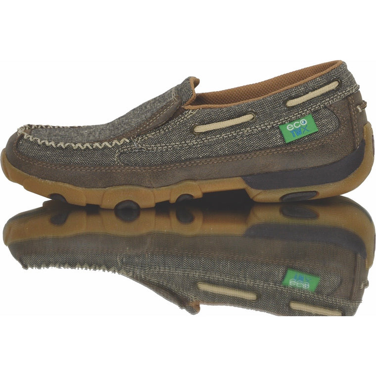 Twisted X Mens ECO TWX Casual Driving Mocs Slip On Dust