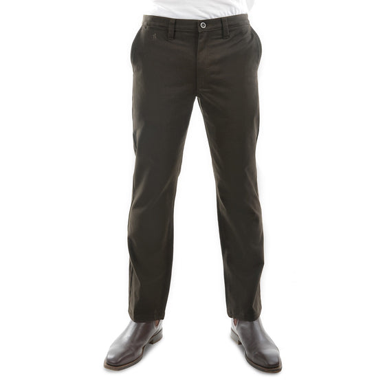 "Mens Thomas Cook Moleskin Trousers Dark Khaki 32"" Leg"